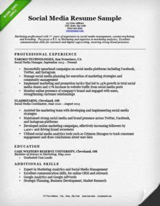 Social Media Resume Description by Salesperson Marketing Cover Letters Resume Genius
