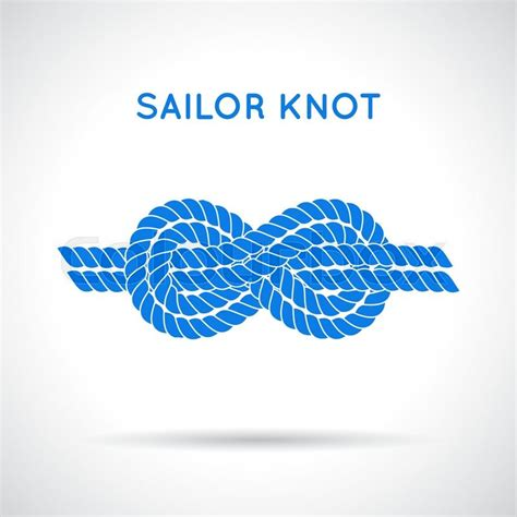 sailor knot nautical rope infinity sign single flat icon