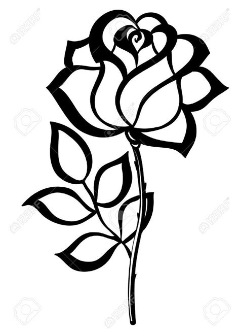 pin  shana rodriguez  coloring rose stencil flower