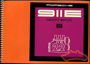 Porsche 911 Owners Manual 1971 911e Handbook Guide Book 71