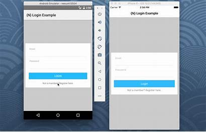 Login Example App Mobile Nativescript Angular Simple