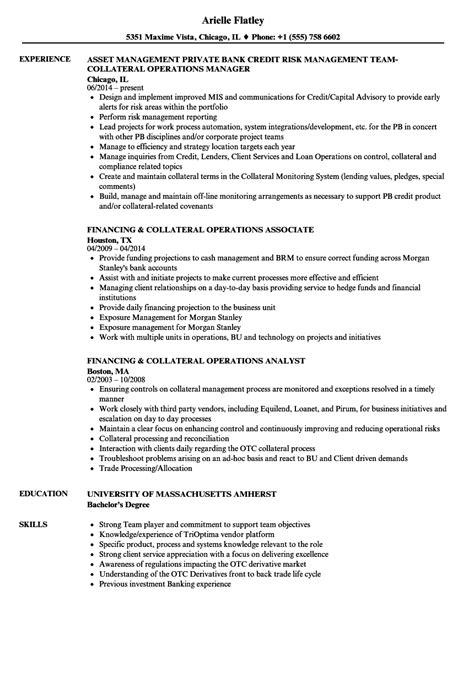 collateral operations resume sles velvet