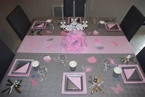 Deco Table Rose Et Gris : d coration de table rose et gris ~ Melissatoandfro.com Idées de Décoration