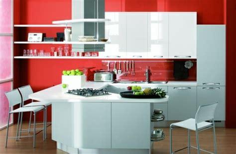 Küche Wandfarbe Rot by Coole K 252 Chen Wandfarbe Gelb Orange Und Rot