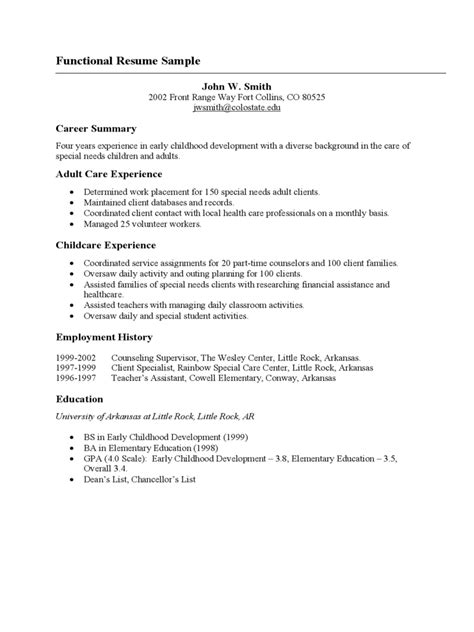 functional resume template   templates   word