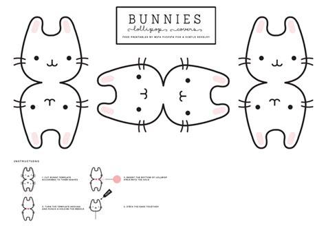 Deer Lollipop Cover Template Pdf by Bunnies Lollipop Covers A Subtle Revelry