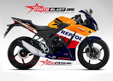Modif Striping Honda Astrea Grand Repsol by Modif Striping Cbr150r Ala Repsol Firelade Lawas Motoblast