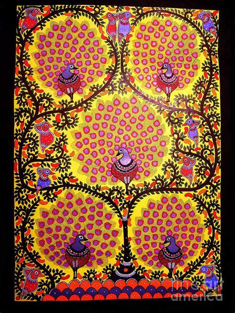 peacocks madhubani paintings painting  mithila crafts