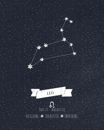 Tatouage Constellation Lion