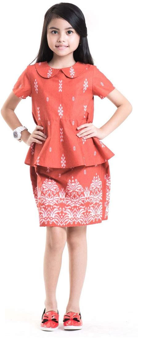 model baju batik anak perempuan umur   batik loka