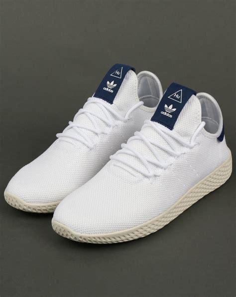 Adidas PW Tennis HU Trainers White/Navy,pharrell williams ...