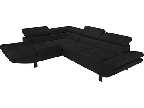 canape angle noir conforama canapé d 39 angle fixe gauche 4 places loft coloris noir en