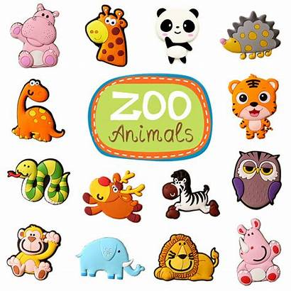 Zoo Animals Cartoon Teaching Toys Wild Children