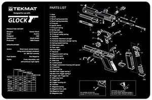 Tekmat Gun Cleaning Mat Parts Schematic For Glock 17 19 21