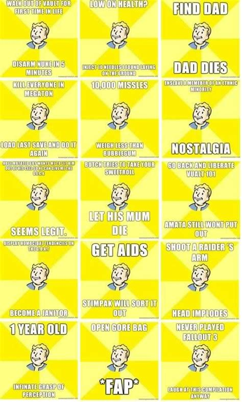 Fallout 3 Memes - fallout memes fallout 3 memes vault boy pinterest be ready fallout meme and humor