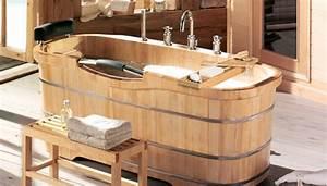 Pont De Baignoire Bois : baignoire ovale en bois photo 12 12 pour conclure ~ Premium-room.com Idées de Décoration