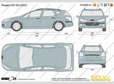 Peugeot 407 SW vector drawing