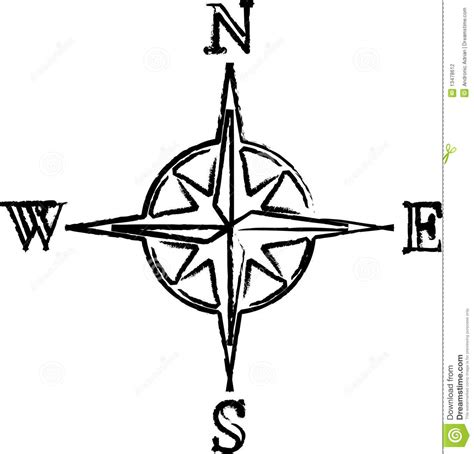 compass stock illustration illustration of drawing black