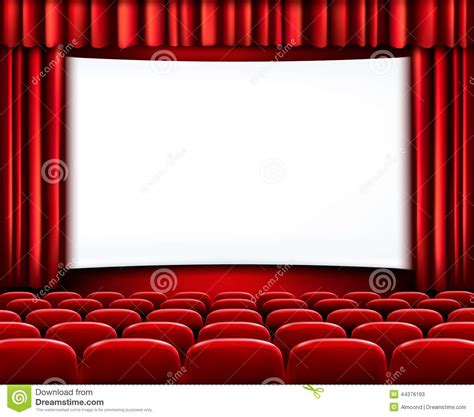 Rows Of Red Cinema Or Theater Seats Stock Vector - Image ...