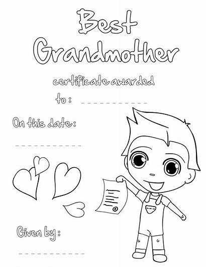 Grandma Coloring Pages Cartoon