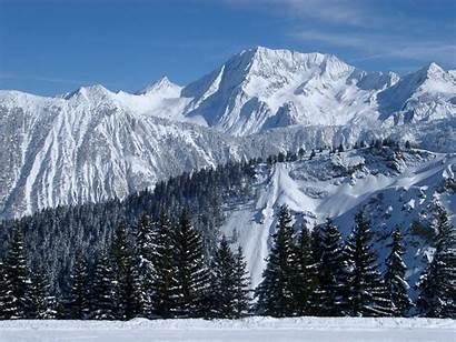 Mountain Winter Mountains Snow Scenes Alpine Covered