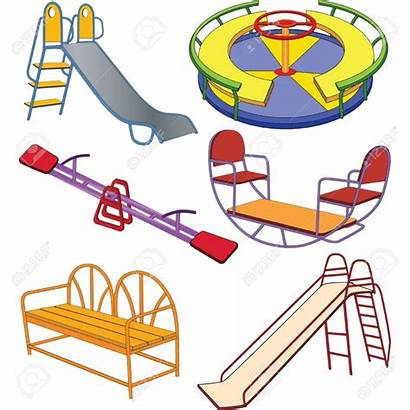 Playground Clipart Clip Swing Park Animated Equipment