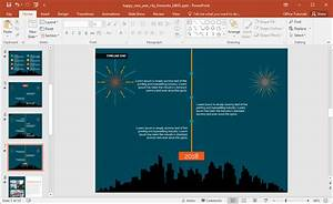 New Year Fireworks Powerpoint Template