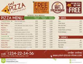 Pizza Restaurant Menu Template