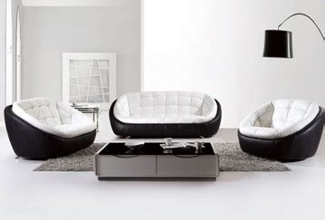 black and white leather sofa set free shipping modern black and white creative genuine