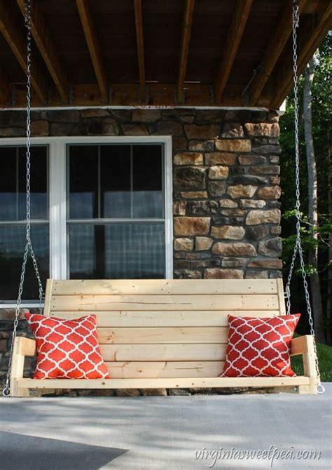 diy  porch swing sweet pea