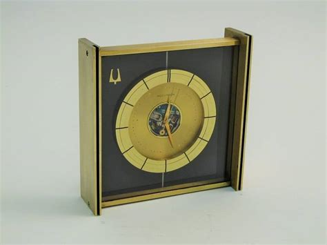 1961 bulova accutron space view desk clock at 1stdibs