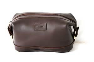 Men's Leather Toiletry Travel Bag