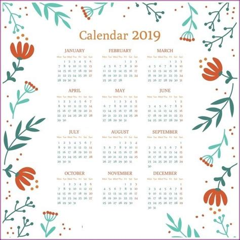 cute calendar  wallpaper floral design calendar