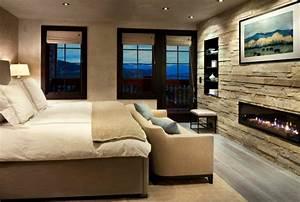 mur pierre interieur minimaliste moderne accueil design With mur en pierre interieur design