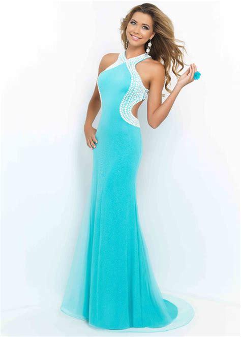 beaded bridesmaid dresses sale turquoise white halter beaded open back layered prom dress blush 9922 turquoise white