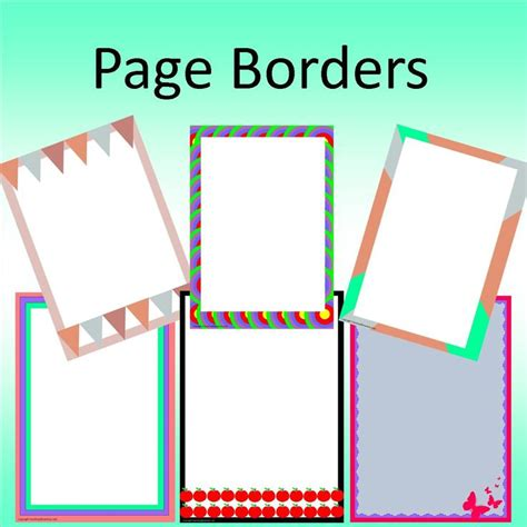 word document borders  clipart  marcos