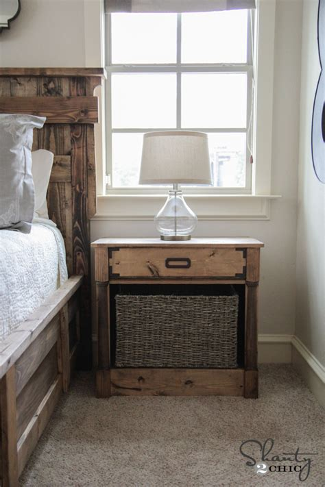 diy nightstands  woodworking plans shanty  chic