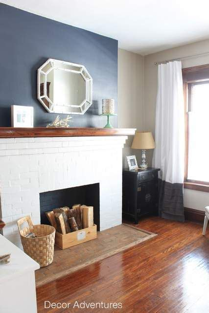 Living Room Accent Wall Fireplace by Hale Navy Accent Wall Free Printable Home