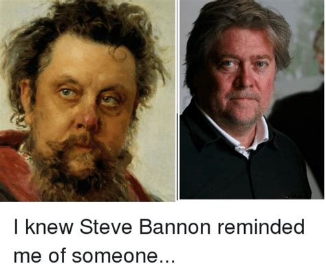 Steve Bannon Memes - i knew steve bannon reminded me of someone politics meme on sizzle