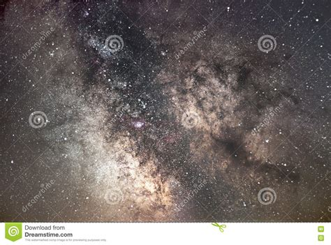 Milky Way Galaxy Core Beautiful Night Sky