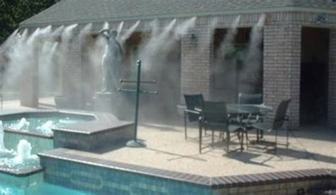 beat the heat with water misters