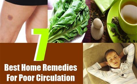 home remedies  poor circulation natural