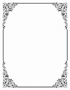 Vintage Wedding Border Clipart - Clipart Suggest