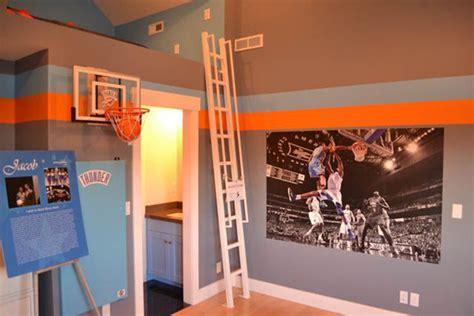 sporty bedroom ideas  basketball theme home