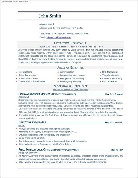 good resume templates for word free sles exles