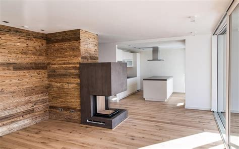 Moderne Offene Küche Meets Altholz Design  Ideen Rund Ums