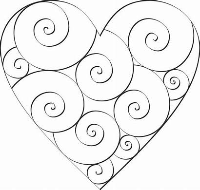 Swirl Hearts Heart Transparent Coloring Paste Version