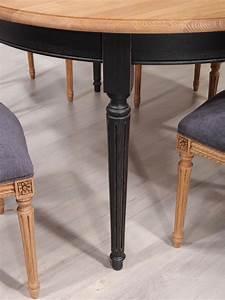 Table 16 Personnes : table ovale 160x120 lambert en ch ne massif de style louis xvi finition ch ne bross meuble en ~ Teatrodelosmanantiales.com Idées de Décoration