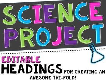 science fair project headers  decor editable  creating  classroom