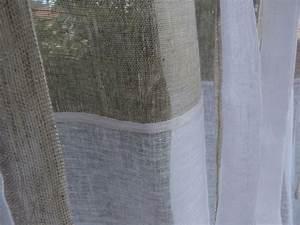 Rideaux En Lin Naturel : rideau agathe en lin blanc et beige un rideau 2 tons ~ Dailycaller-alerts.com Idées de Décoration
